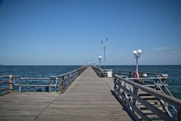 On the pier. Great time on Rügen, Chalk Cliffs, Beaches, Coast and bathing resort Binz.