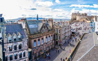 Old town with RoyalMile, Edinburgh,Scotland