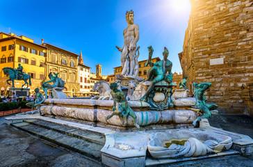 Fountain Neptune in Piazza della Signoria in Florence, Italy