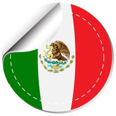 Sticker design for flag of Mexico