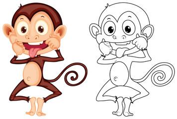 Doodle animal for monkey