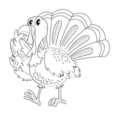 Doodle animal for turkey