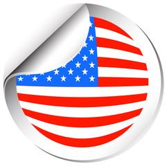 Sticker design for America flag