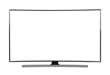 LED TV isolated on white background (with clipping path)