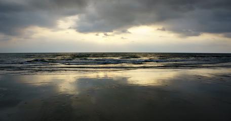 view of beach on sunrise