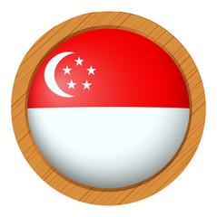Badge design for Singapore flag