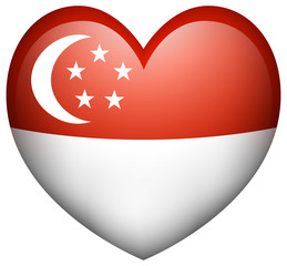 Flag icon design for Singapore