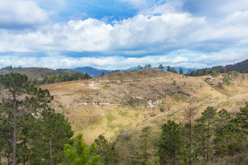 Mountain landscape in central Honduras near village of Sta. Cruz Ariba