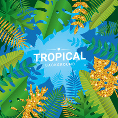 Gold Tropical summer time background