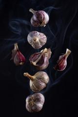 Still life - flying in the smoke garlic