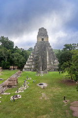 Tikal Temple I, Temple of the Great Jaguar in the main Plaza of Tikal, Guatemala