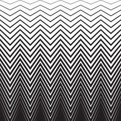 Halftone zig zag pattern background. Vector zigzag texture retro