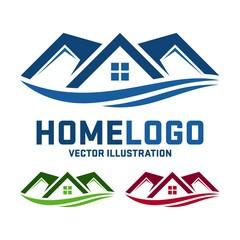 Home Vector Logo Design, Simple Home Template