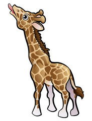 Giraffe Safari Animals Cartoon Character