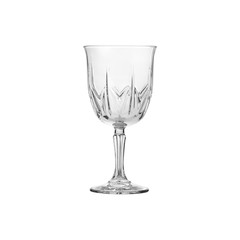 Glass transparent empty glass for drinks, isolated on white background.
