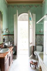 Beautiful bathroom in sunlight