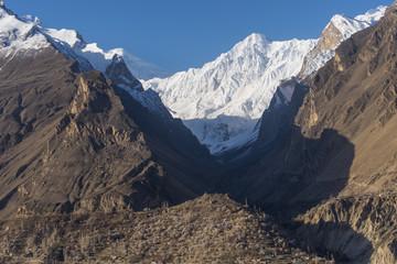 Hunza valley in a beautiful morning, Karimabad, Gilgit Baltistan, Pakistan
