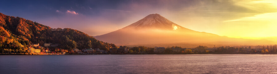 Printed kitchen splashbacks Japan Panoramic view of Mt.Fuji