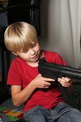 Kid warrior, soldier, shooting
