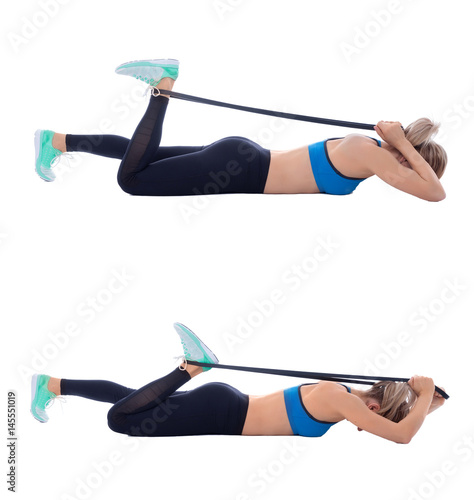 """Elastic Band Quad Stretch"" Stock Photo And Royalty-free"