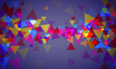 Vector background with color triangles