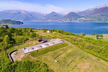 Colico - Lago di Como (IT) - Forte di Montecchio - Vista aerea