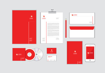 corporate identity template for your business includes CD Cover, Business Card, folder, Envelope and Letter Head Designs No.9