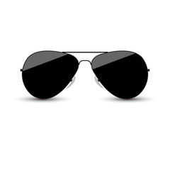 Black glasses in the form of a droplet on a white background. Vector illustration.