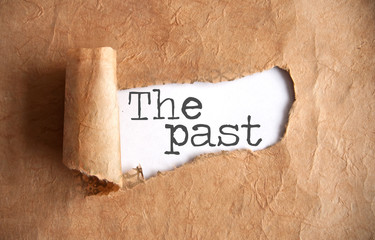The past paper scroll uncovered Wall mural