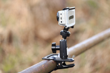 GOMEL, BELARUS - 12 April 2017: Action movie GoPro tuned to the shooting of nature