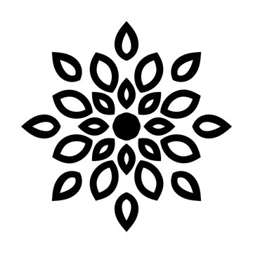 Round pattern with stylized leaves. Template for engraving, embroidery, burning out on a tree and other creative. Logo eco style.