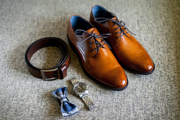 Wedding accessories of the groom