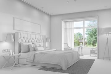 CAd-Modell von einem Schlafzimmer