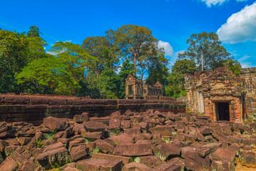 Ancient Preah Khan temple ruin, Siem Reap, Cambodia