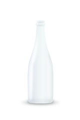 Premium white milk vector bottle