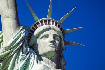 Foto auf Acrylglas Historische denkmal Detail of the statue of liberty in New York
