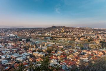 TBILISI, GEORGIA Panorama view on centre of Tbilisi city.