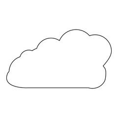 Cloud Outline Icon Symbol Design. Vector illustration isolated on white background