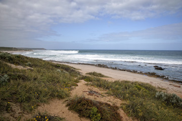 Western Australia - rough Costline with cloudy sky