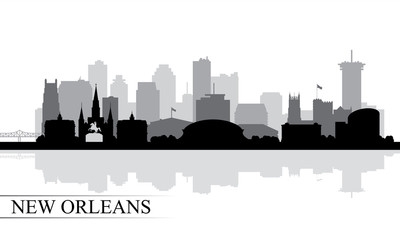 New Orleans city skyline silhouette background Fotomurales