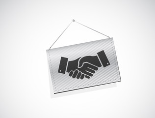 business agreement handshake banner sign concept