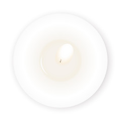 Pastel white relax background vector illustration with candle