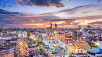 Trimit temple is landmark in Bangkok, Thailand.