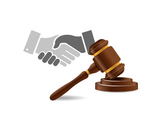 legal agreement handshake concept