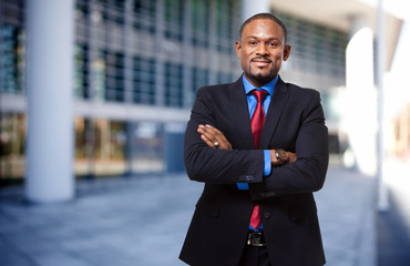 Portrait of an handsome black businessman