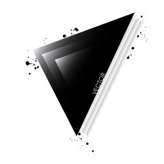 Stylish abstract illustration of triangles. Vector. Design flyer, business card or banner.