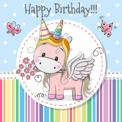 Greeting card Cute Unicorn