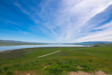 Carrizo Plain National Monument, San Andreas Fault (boundary between the Pacific Plate and the North American Plate), California USA, North America