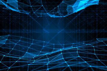 Futuristic virtual technology background