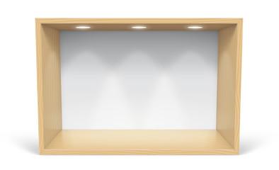 Présentoir en bois vectoriel 1